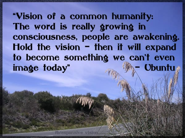 Vision of a Common Humanity